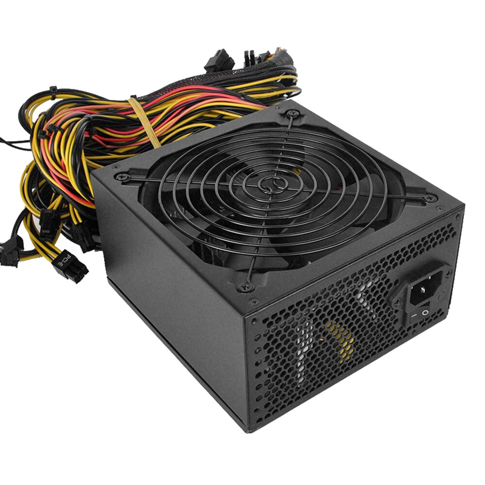 1800W Rated Miner Power Supply 96% High Efficiency AC 180-260V ATX Mining Power Source Support 8 CPU Card Max Up to 2000W enlarge