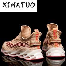 남자를위한 새로운 야외 실행 조깅 산책 스포츠 신발 고품질 레이스 업 통기성 블레이드 스니커즈 Zapatos de hombre