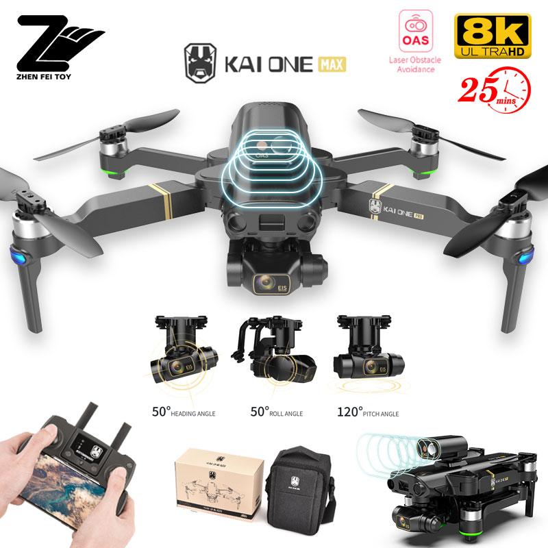 KAIONE ماكس نظام تحديد المواقع بدون طيار مع 4K المهنية 8K HD كاميرا 3-محور Gimbal تجنب عقبة التلقائي فرش أجهزة الاستقبال عن بعد 1.2 كجم