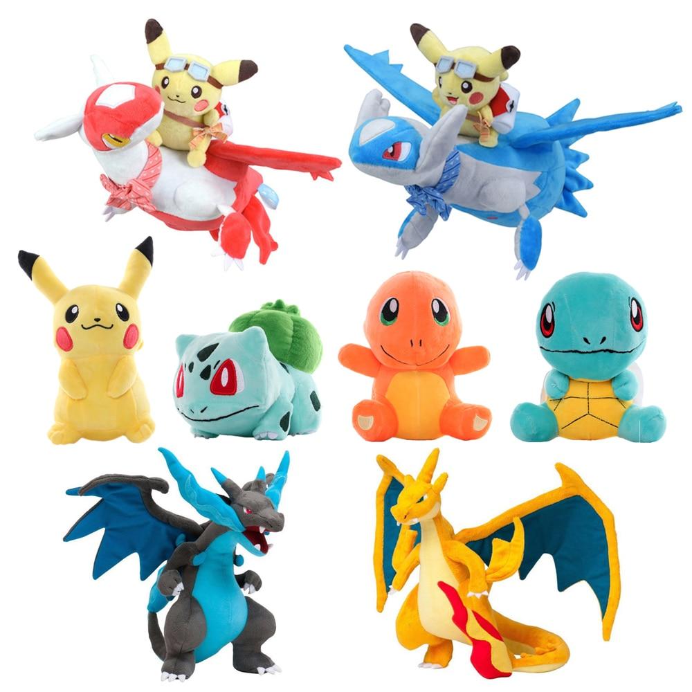 41 Styles Pikachued Charmander Bulbasaur Squirtle Pokemoned Plush Toys Eevee Snorlax Jigglypuff Stuf