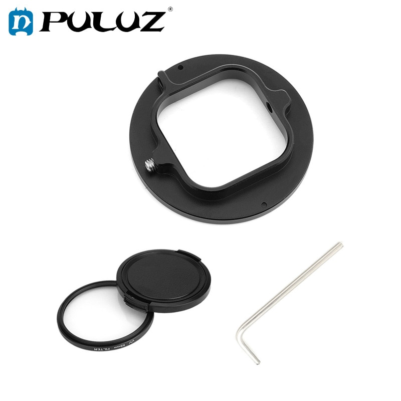 PULUZ-anillo adaptador de Filtro de lente UV de 52mm para GoPro héroe...