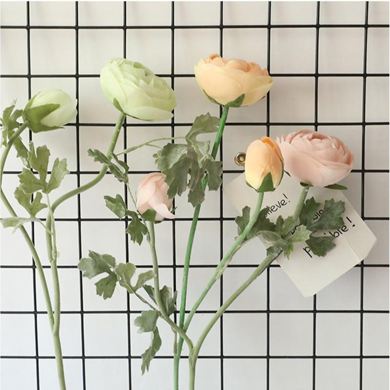 Artificial Wool Asian Plant Rose Silk Flower Dew Lotus Autumn Silk Flower Home Party Wedding Decoration False Flower