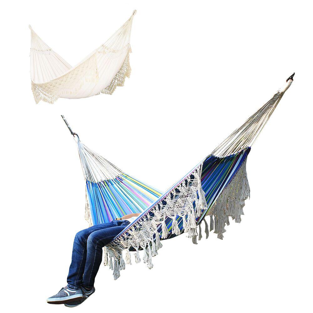 رائجة البيع كرسي هزاز سوينغ ، شرابة معلقة مكرامية كرسي قماش القطن لغرفة النوم في الأماكن المغلقة في الهواء الطلق