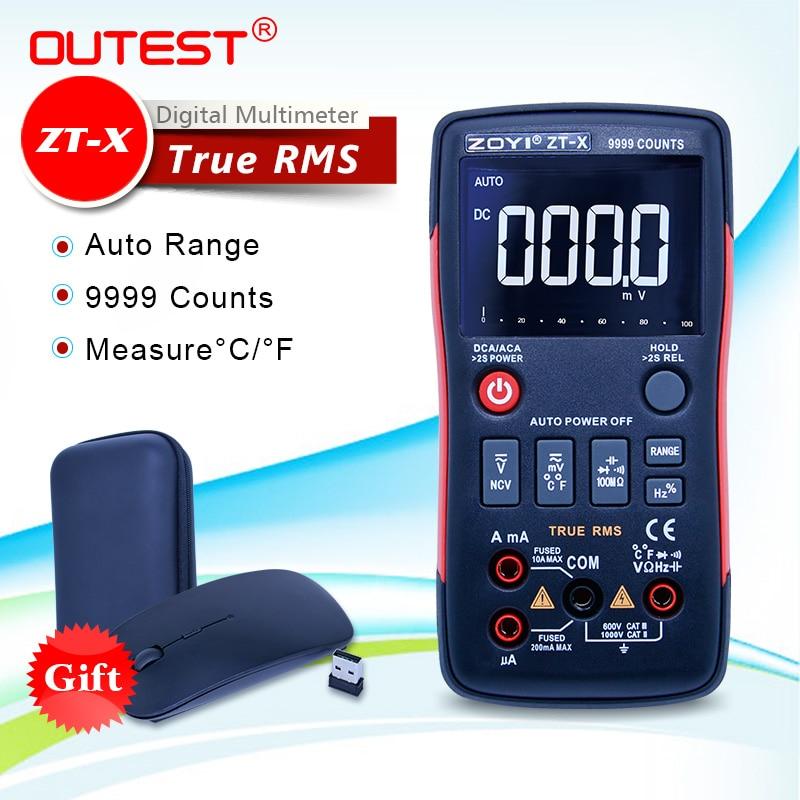 ZT-X multímetro Digital botón 9999 recuentos VS RM409B barra analógica gráfico AC/DC voltaje amperímetro corriente Ohm retroiluminación LCD Display