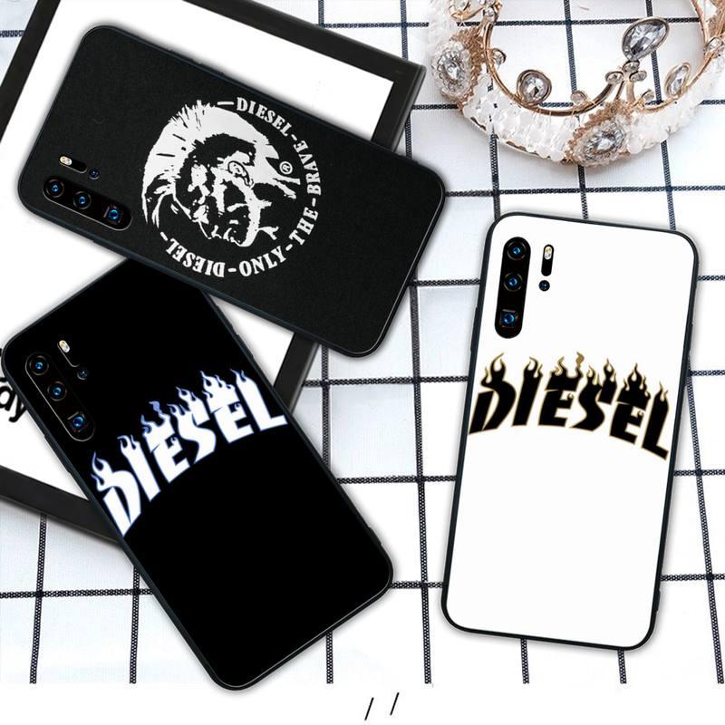 Funda de teléfono de silicona VIP de lujo de marca Diesel para Huawei P9 lite 2016 2017 P 10 P20 PRO P30 P40 lite P smart 2019 2020