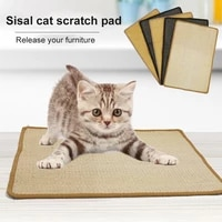 cat scratch board skid proof cat scratching mat natural sisal felt cat scratcher sisal scratching pad home pet protecting tools