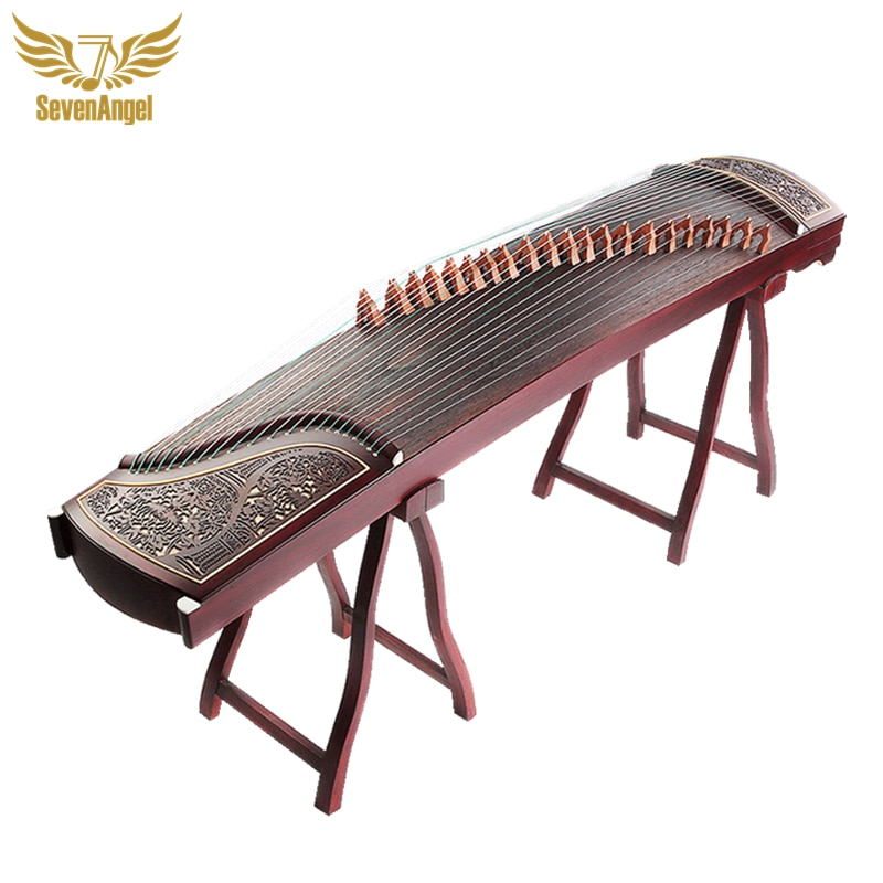 SevenAngel-آلة موسيقية صينية من الخشب الصلب ، آلة موسيقية احترافية Guzheng 21 Stings Zither Lankao مع الملحقات