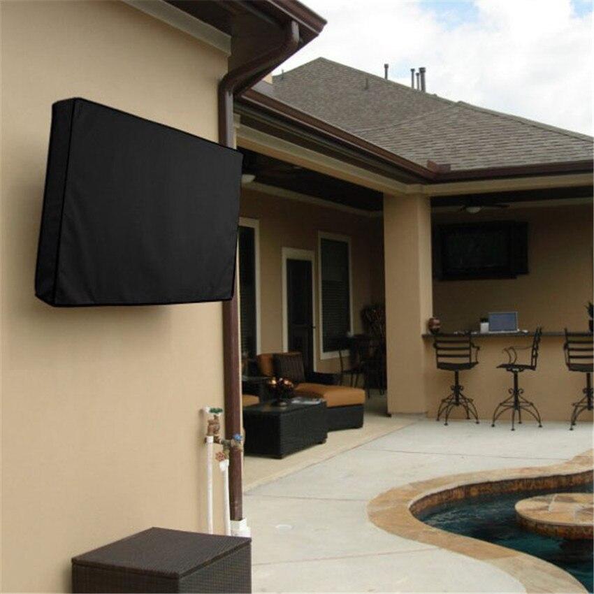 Pvc oxford pano impermeável tv capa ao ar livre protetor à prova de poeira tv capa lcd tv cobre 22-24///30-32/36-38/46-48/50-52 polegadas