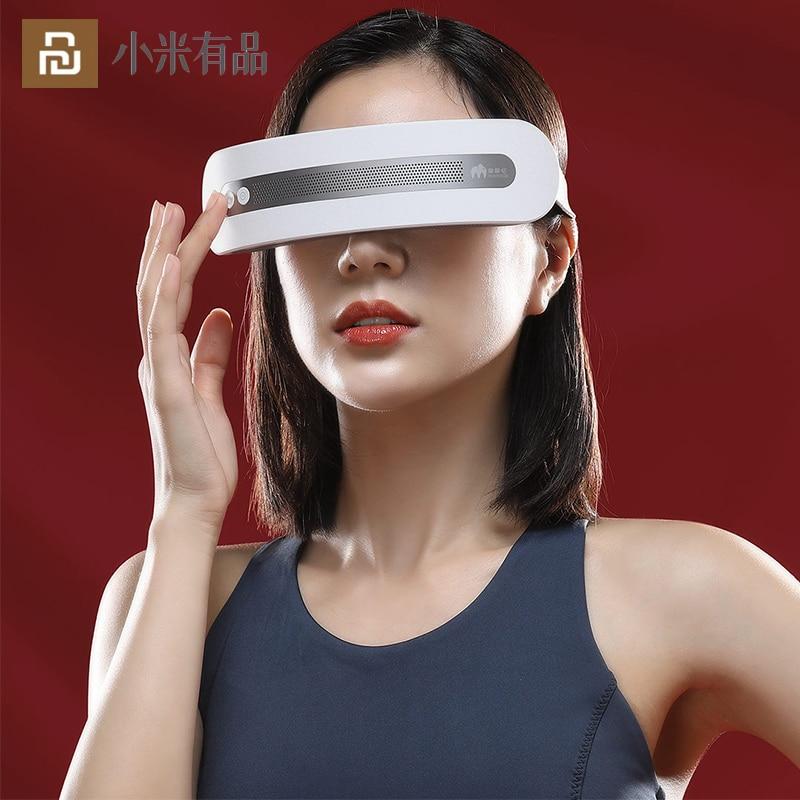 نظارات تدليك اهتزازية Youpin للعين ، جهاز كهربائي ساخن وبارد للعناية بالعين ، يخفف التعب والهالات السوداء ، بلوتوث ، موسيقى