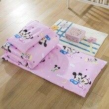 Disney 100% bawełna komplet pościeli dziecięcej noworodka kołdra Mickey mouse Minnie szopka zestawy łóżeczko zestaw kołdra poszewka narzuta