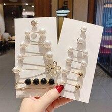 1Set Big Beads Chakra Simulated Pearl Brooch Pin Dress Rhinestone Decoration Buckle Pin Jewelry Broo