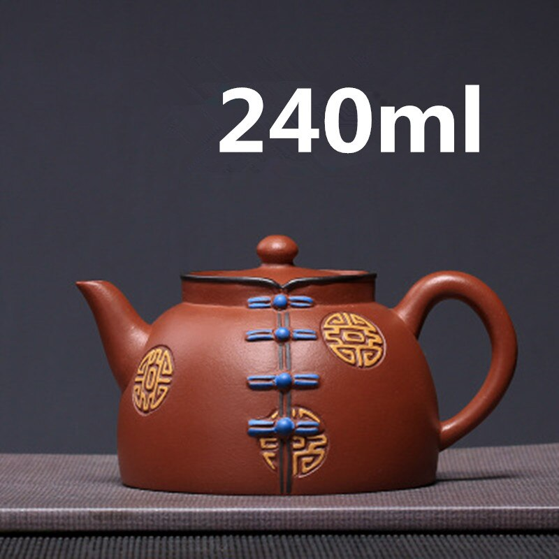 Tetera-أباريق شاي بورسلين Gongfu ، طقم شاي Yixing Zisha ، إبريق شاي 240 مللي ، وصل حديثًا ، جودة عالية مع صندوق هدايا ، عبوة آمنة