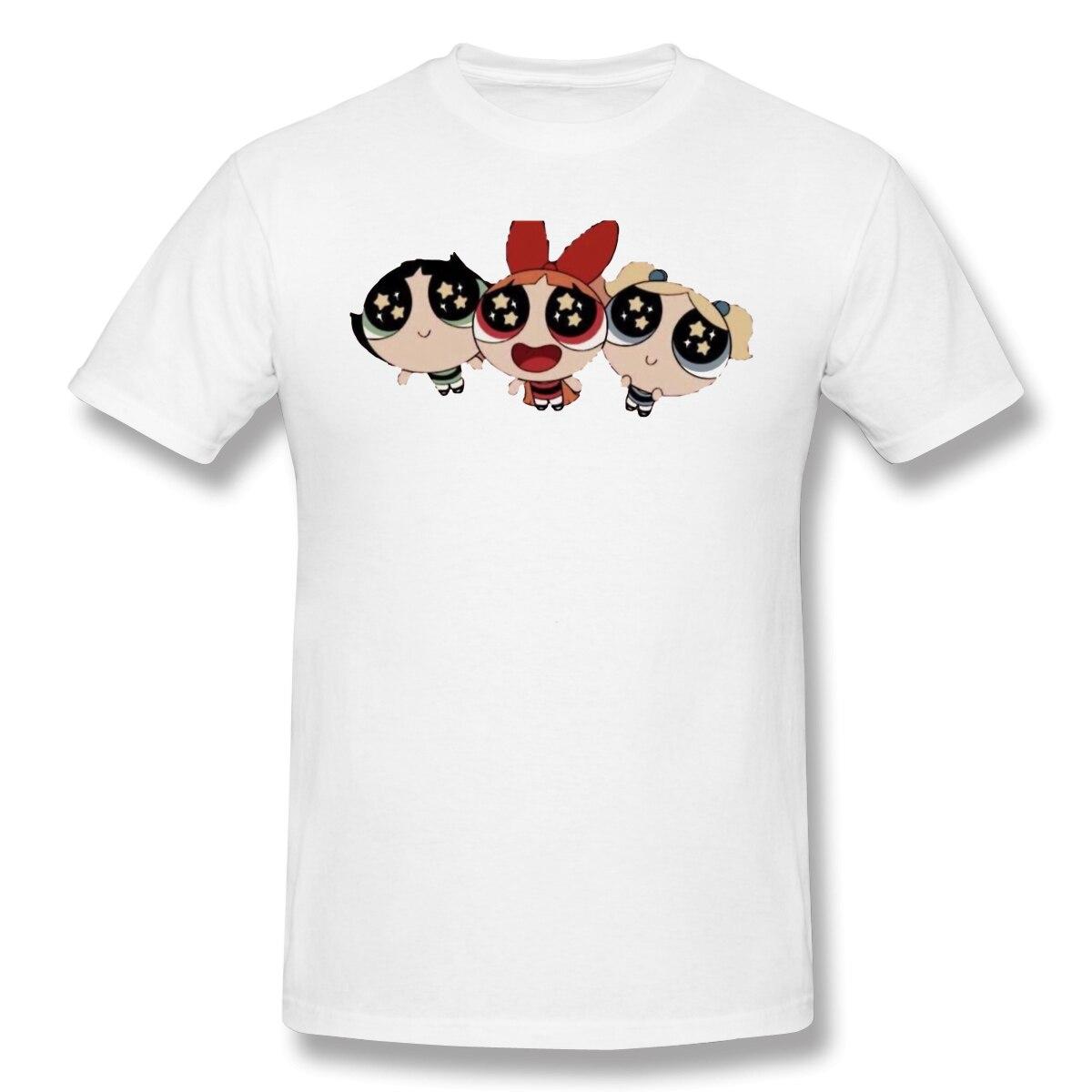 TrioT-Shirt Men Top Quality 100% Cotton Short Summer Sleeve powerpuff girls Casual Tshirt Loose