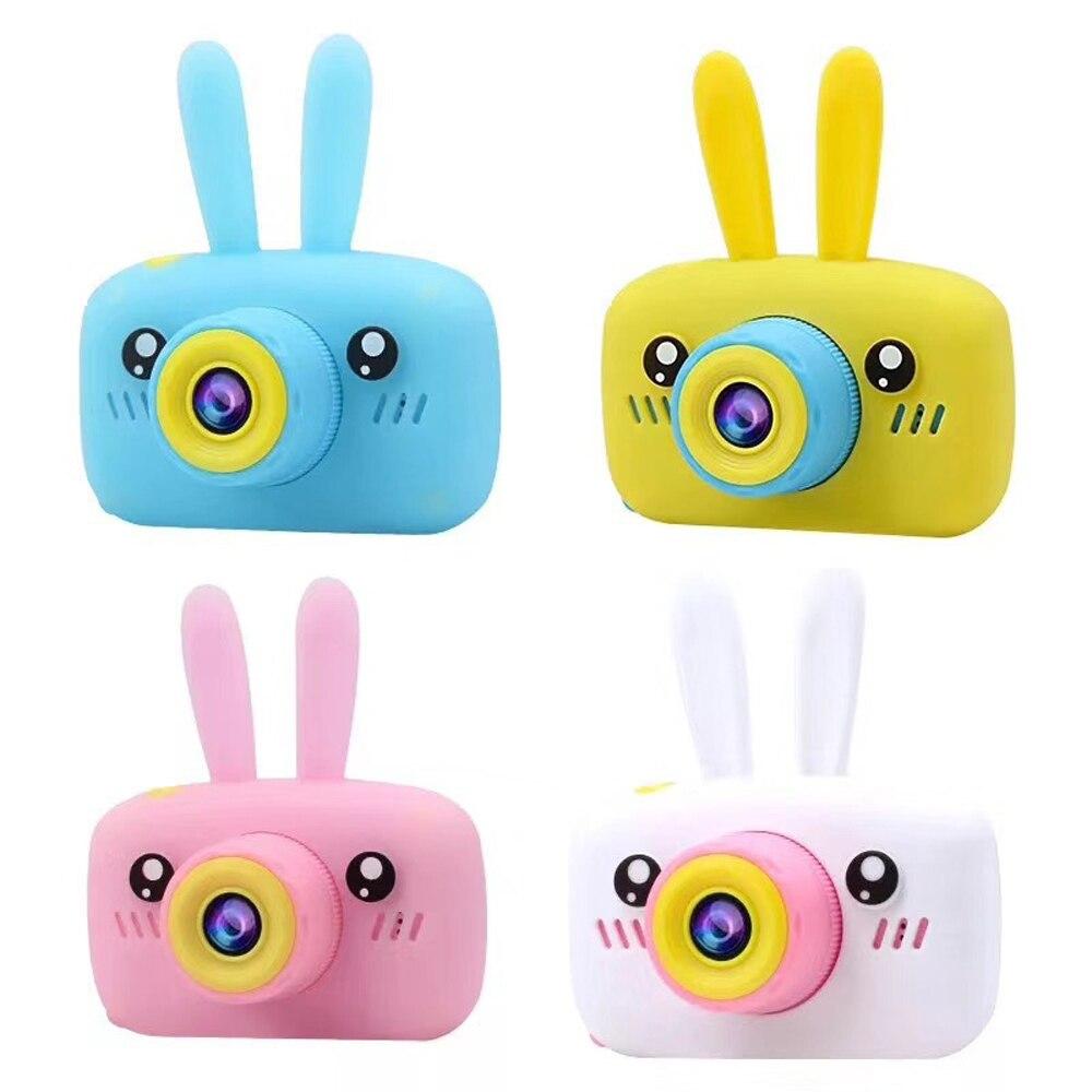 جراب واقٍ من السيليكون للأطفال ، لعبة كاميرا رقمية عالية الدقة 1080 بكسل ، أرنب ، دب ، رسوم متحركة
