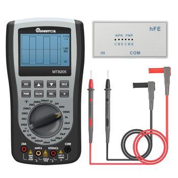 MT8205 2 in 1 Digital Intelligent Handheld Storage Oscilloscope Multimeter AC/DC Voltage Resistance Frequency Diode Tester