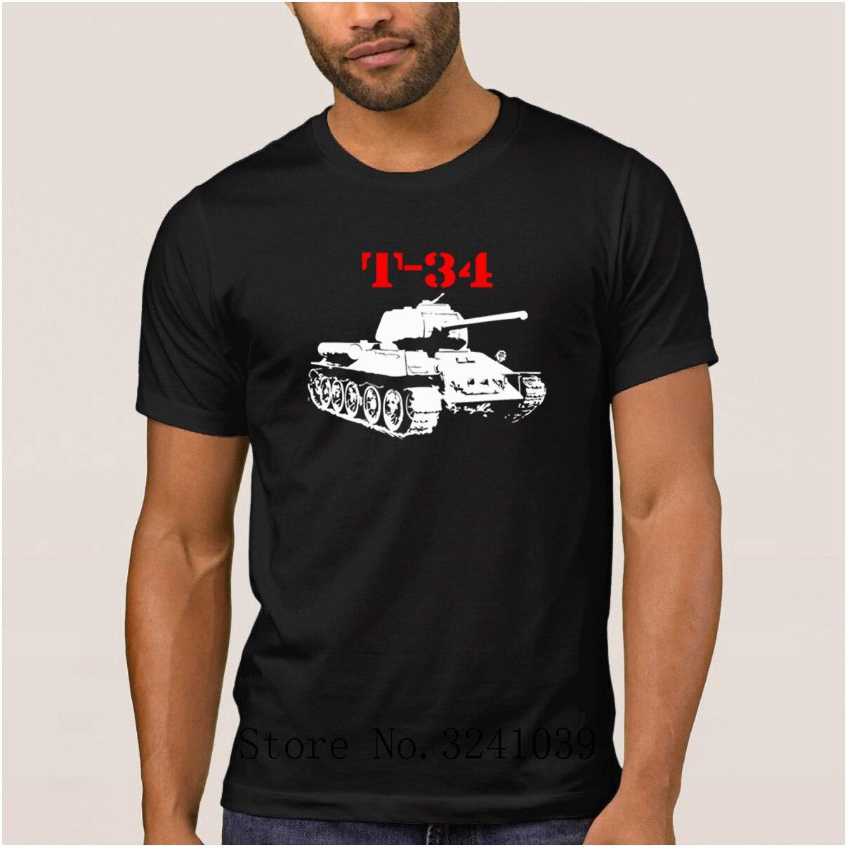 Anlarach punto divertido t 34 Ruso ruso Segunda Guerra Mundial camiseta verano Fitness camiseta para hombres camiseta única para hombre cuello redondo