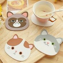 2020 yüksek kaliteli kedi şekilli çay bardağı altlığı bardak tutucu Mat kahve içecekler içecek silikon Coaster fincan altlığı Placemat mutfak aksesuarı