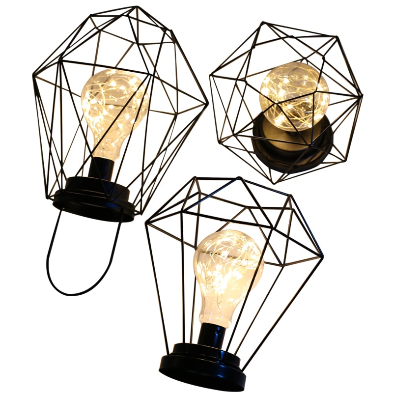 Lámpara de mesa Retro con batería para sala de estar, lámpara de...