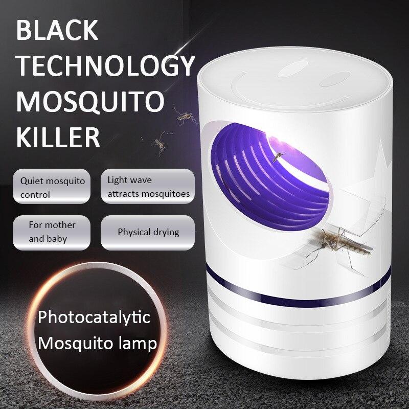 USB de 5W de potencia eléctrica lámpara mata mosquitos UV Photocatalys bicho insecto trampa de luz repelente Control de Plagas verano Essentials