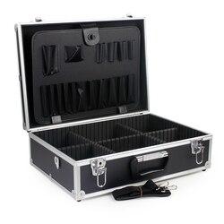 Estojo de alumínio para mala de ferramenta, caixa de lixa resistente ao impacto, equipamento de segurança com espuma pré-cortada