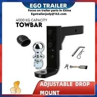 egotrailer 4000kg adjustable height tow bar hitch 50mm 2inch ball towbar drop mount trailer