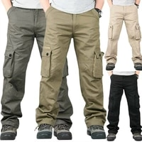 new mens tactical cargo trousers outdoor hiking combat casual mult pockets pants