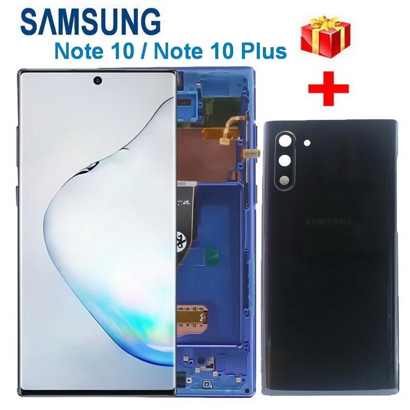 100 original lcd para samsung galaxy note 10 n970 n9700 n970f display nota 10 mais