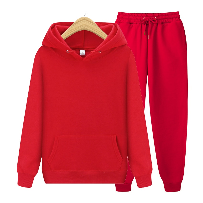 AliExpress - Tracksuits Men's Women's Hoodie Pants Set Oversized Long Sleeve Sportwear Tracksuit Set  Autumn Winter Suits On Fleece Men Women