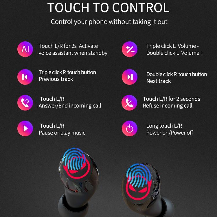 1pcs/KIROGI Wireless Bluetooth In-ear Earphone stereo Hi-Fi airpoddings 2 pro 3 Earphone with Mic Hands Free For Christmas Kids enlarge