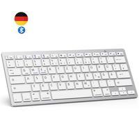 Немецкий персонаж Bluetooth клавиатура легкий портативный тонкий немецкий беспроводной тастат для iPad iPhone iOS Android Windows Smart TV