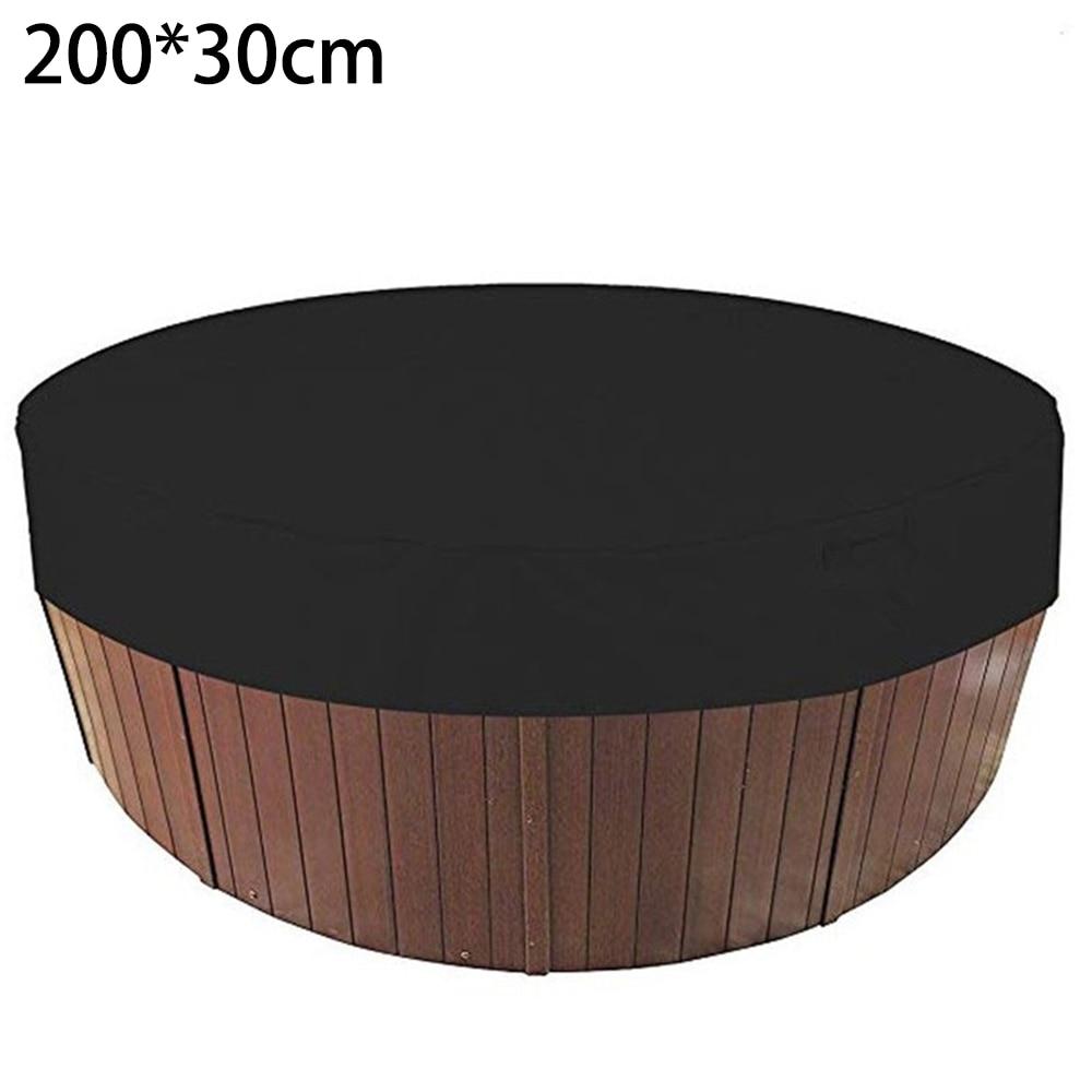 1 pçs preto banheira capa redonda anti-uv protetor spa banheira de hidromassagem poeira à prova dwaterproof água cobre banheira capa