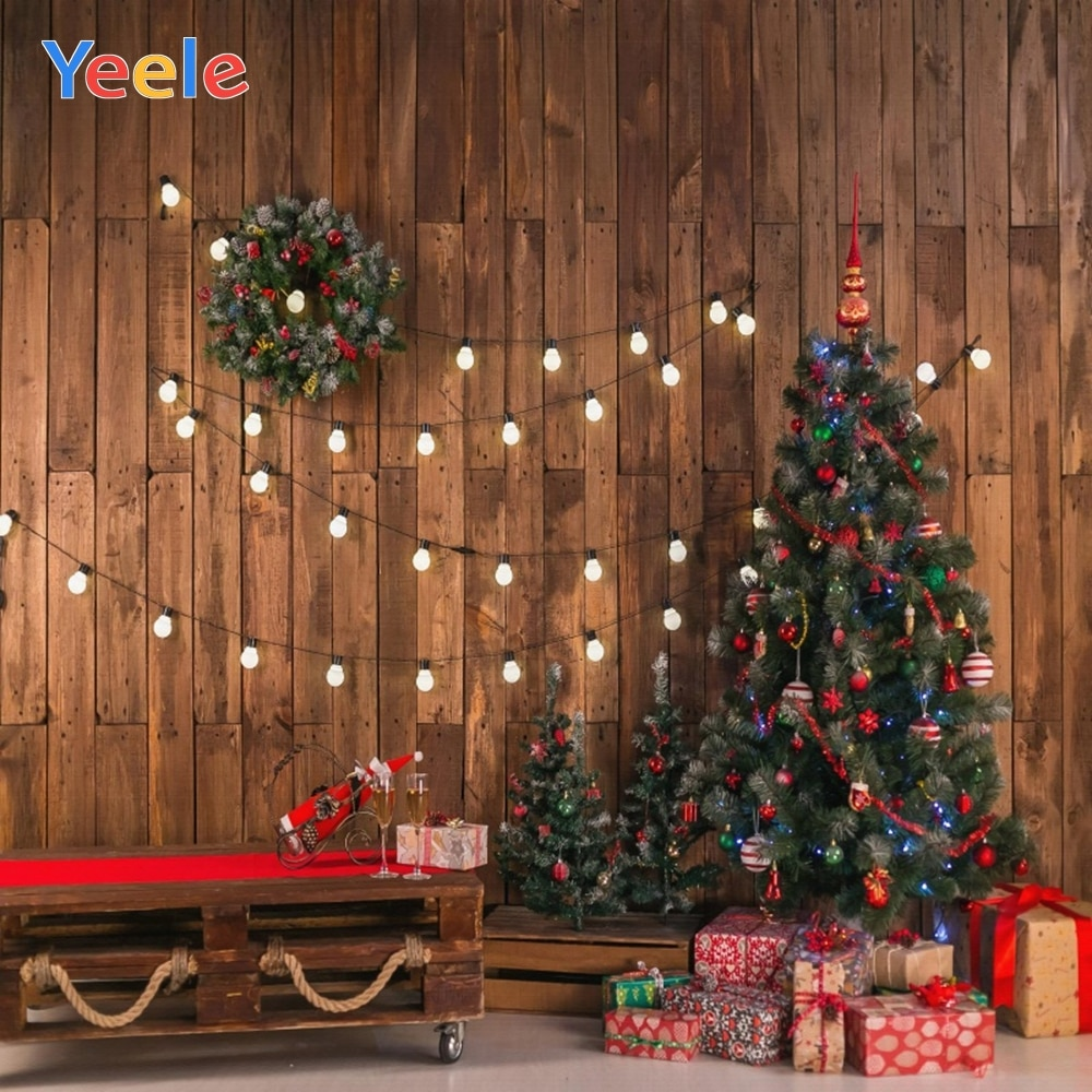 vintage wood board winter christmas tree branch photography backdrop vinyl photographic background for photo studio photophone Christmas Tree Light Vintage Wood House Room Backdrop Vinyl Photography Backdrops Photographic Background Photophone Photocall