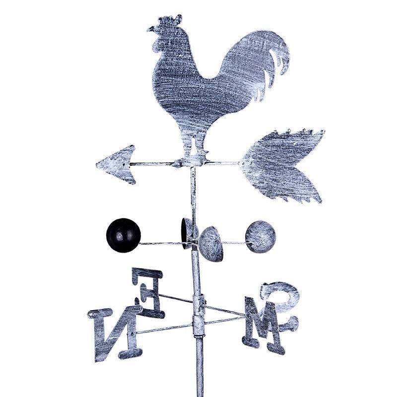 Yaratıcı Vintage horoz rüzgar gülü demir horoz rüzgar hızı Spinner kanatlı bahçe süslemeleri ev Patio Yard dekor