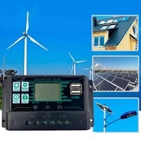 dropshipping auto solar charge controller pwm controllers lcd dual usb output solar panel pv regulator usb solar panel regulator