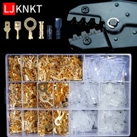 copper crimp terminals cable wire connector assortment kit crimping hand tool connection 03bc spring plug electrical insulated