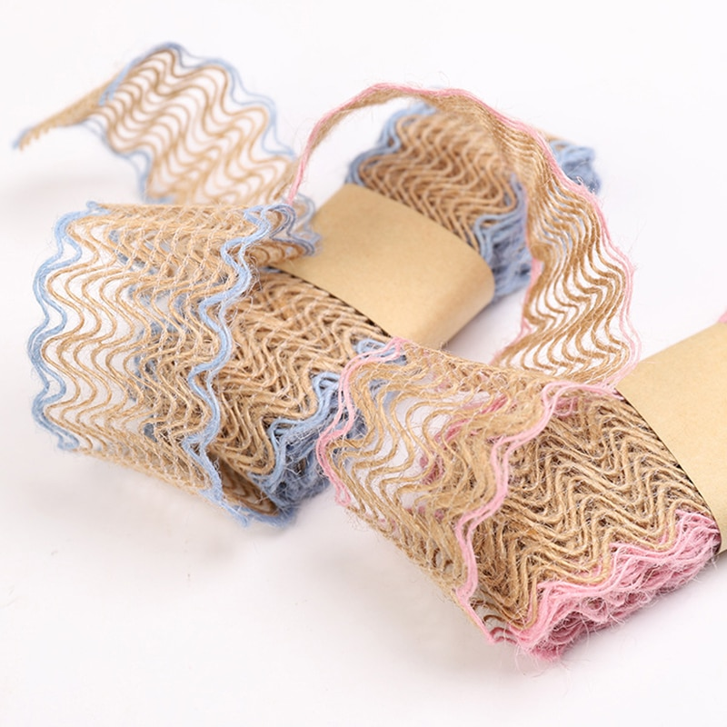 2M/rollo de cáñamo Natural artesanía cinta fiesta boda regalo yute arpillera cintas DIY Festival suministros decoración del Festival