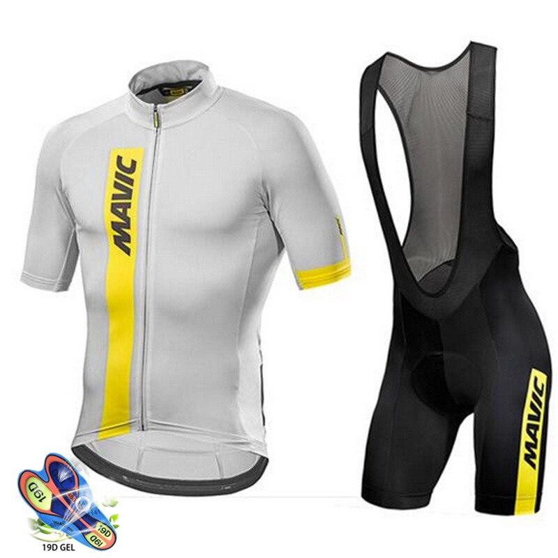 Mavic-Maillot de Ciclismo para hombre, Ropa de equipo profesional transpirable, pantalones cortos...