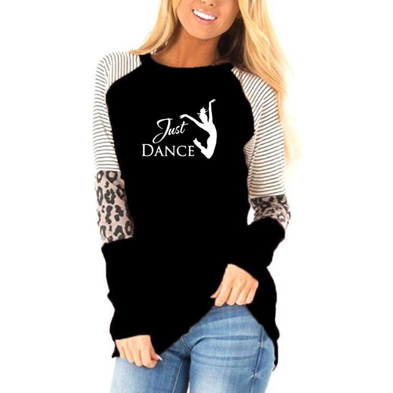 Fun just dance Girl Tee Shirt Female Dancer women fashion 2019 Autumn Women Long Sleeve T Shirt