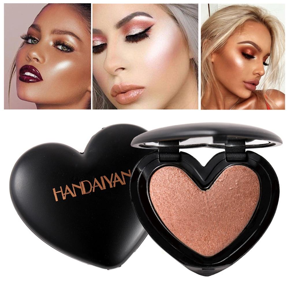 New HANDAIYAN 6 Colors Glitter Highlighter Powder Contour Powder Body Highlighter shimmer and shine Face Makeup Cosmetics TSLM1