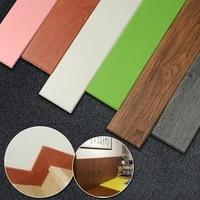 wood grain skirting waist line foam wall stickers self adhesive background decorative border line anti collision sticker for kid