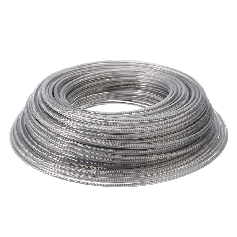 45m 3mm Dia Wire Rope Cord Line Grass Trimmer Line Inside with Steel Wire Brush Cutter Nylon Line for Garden Tools Part