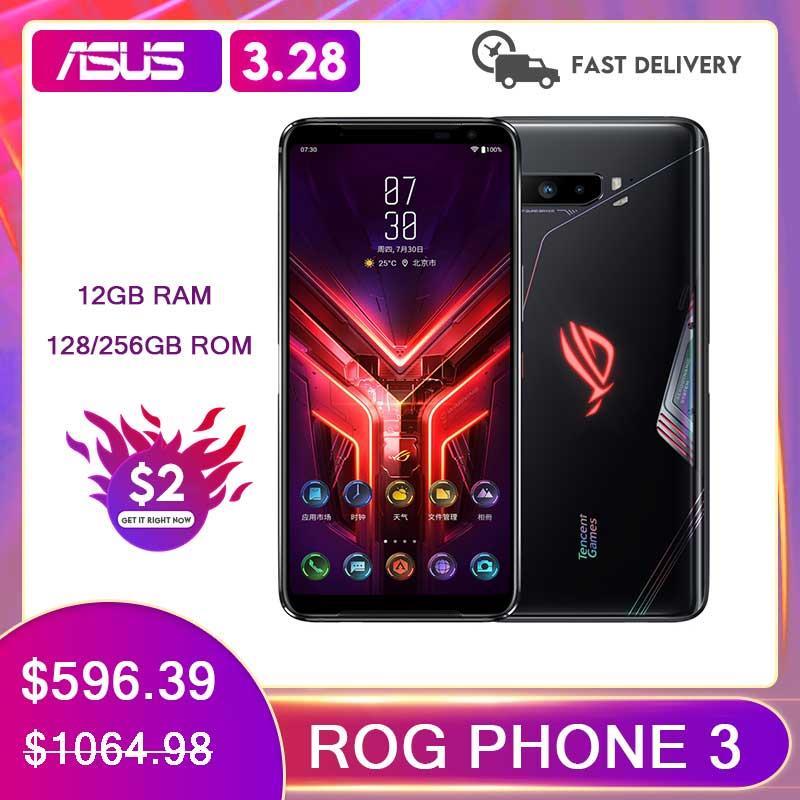ASUS ROG Phone 3 Global ROM Gaming Phone 12/16GB RAM 128/256/512 GB ROM OTA Update Snapdragon865Plus 6000mAh Smartphone