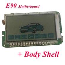E90 LCD télécommande porte-clés pour système dalarme de voiture russe StarLine E90 LCD télécommande porte-clés Fob