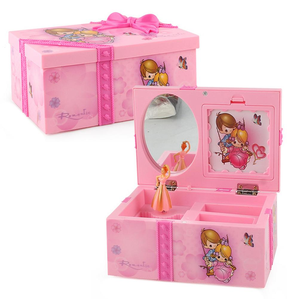 Kids Jewelry Box Unforgettable Musical Jewelry Box Beautiful Princess Dancing With Music Pink Bow Kn
