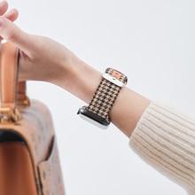 Luxury brand Strap for Apple Watch band Leather 40mm 44mm 38mm 42mm wrist Bracelet watchband Apple w