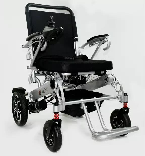 Silla de ruedas eléctrica plegable, motorizada, usada con mando para silla de ruedas eléctrica