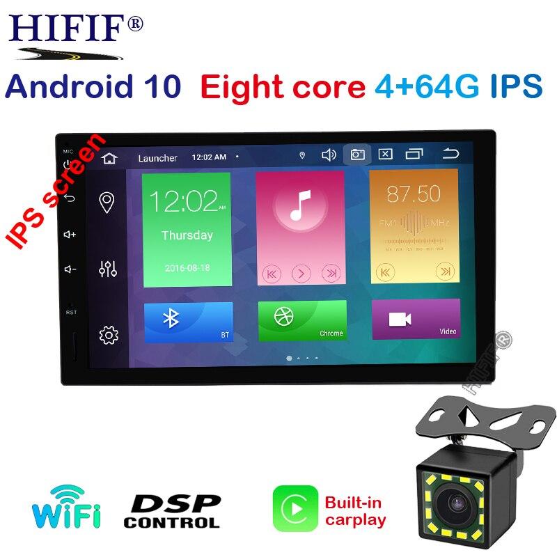 "Reproductor Multimedia de 7 ""2Din Android 10 para coche, Carplay para Nissan Toyota para Hyundai Kia Radio estéreo con navegación GPS Video (SIN DVD)"