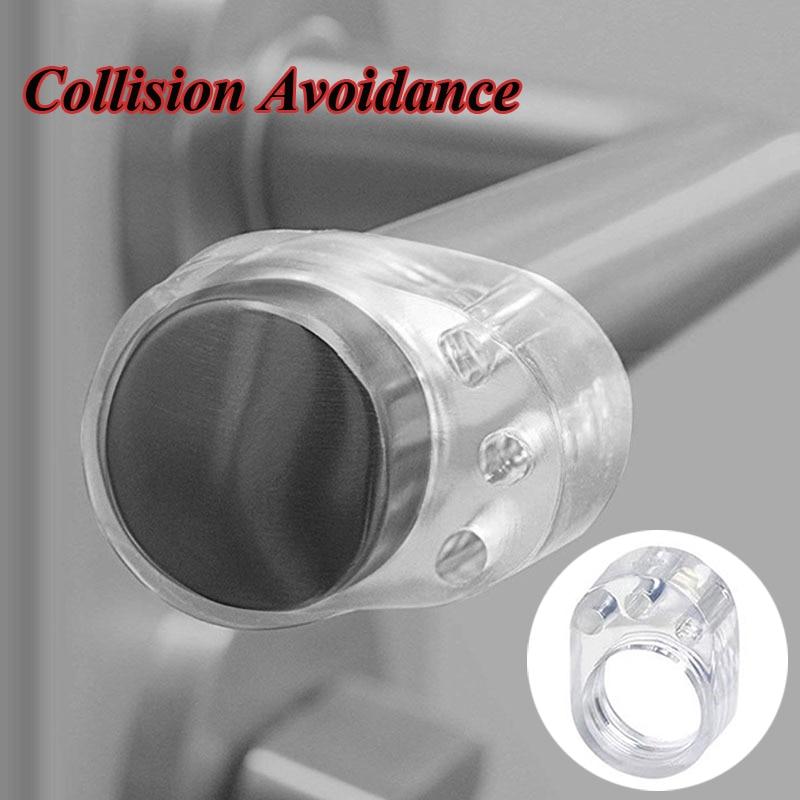 5pcs Door Stopper Transparent Silica Gel Door Handle Buffer Wall Protection Doorknob Bumper Walls Protective Anti-collision Ring