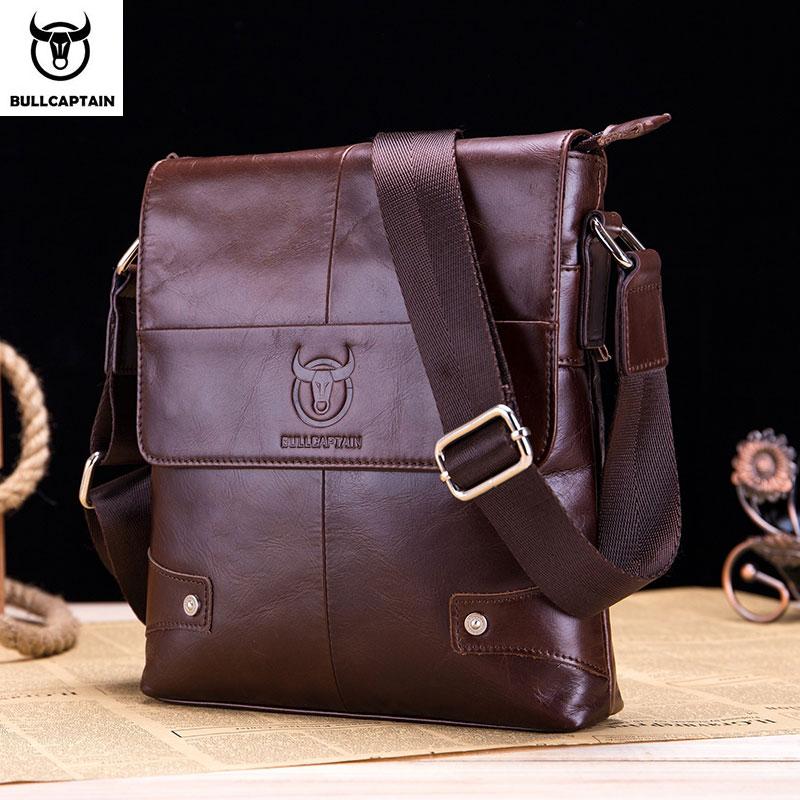 BULLCAPTAIN men's bag leather messenger shoulder bag leather messenger handbag men's fashion business bag