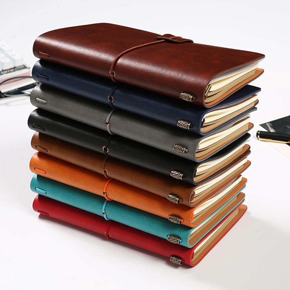 New Diary Notebook Agenda With Faux Leather Cover Loose Leaf Note Bookfor School Stationery or Traveler